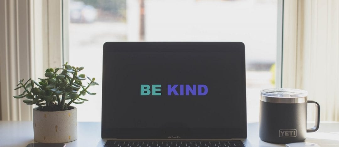 a computer that reads be kind