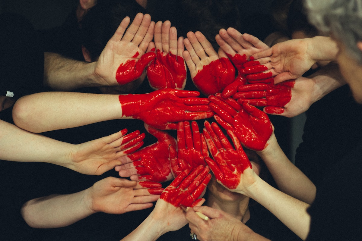hands forming the shape of a heart